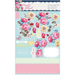 DoCrafts - Papermania - Capsule Collection - Simply Floral - A4 Decoupage Pack - Pastel Blooms