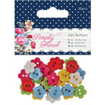 DoCrafts - Papermania - Capsule Collection - Simply Floral - Mini Flower Buttons