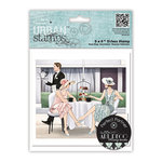 DoCrafts - Papermania - Art Deco Urban Stamps - Cling Mounted Rubber Stamps - Afternoon Tea