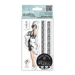 DoCrafts - Papermania - Art Deco Urban Stamps - Cling Mounted Rubber Stamps - Flapper