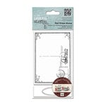 DoCrafts - Papermania - Madame Payrauds Urban Stamps - Cling Mounted Rubber Stamps - Postal Frame