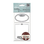 DoCrafts - Papermania - Madame Payrauds Urban Stamps - Cling Mounted Rubber Stamps - Oval Frame