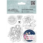 Docrafts - Papermania - Capsule Collection - Simply Floral - Urban Stamps - Birthday Rose