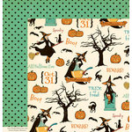 October Afternoon - Witch Hazel Collection - Halloween - 12 x 12 Double Sided Paper - Cauldron Bubble