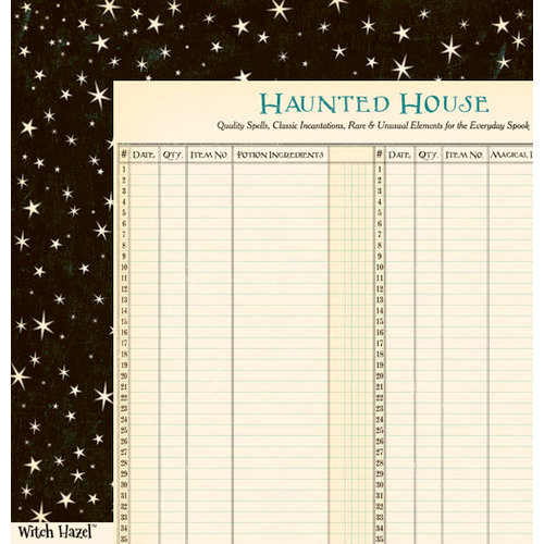 October Afternoon - Witch Hazel Collection - Halloween - 12 x 12 Double Sided Paper - Star Thistle