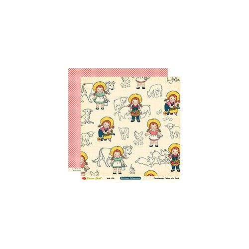 October Afternoon - Farm Girl Collection - 12 x 12 Double Sided Paper - Milk Pail