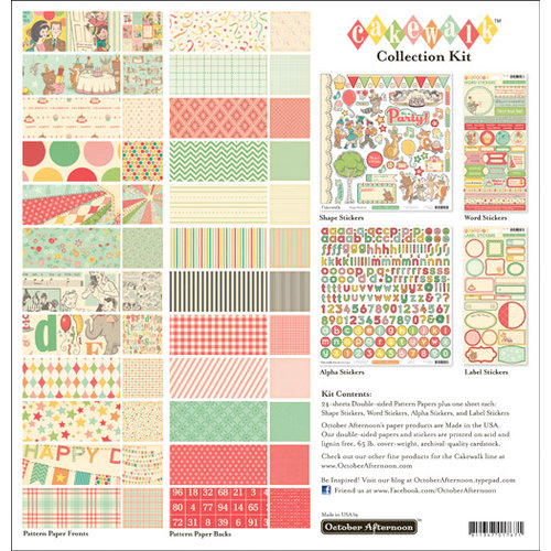 October Afternoon - Cakewalk Collection - 12 x 12 Collection Kit