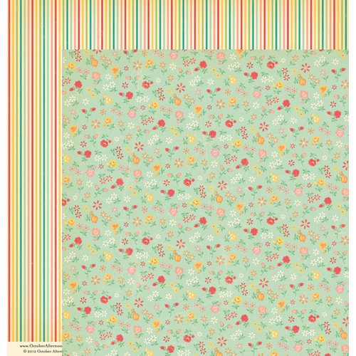 October Afternoon - Cakewalk Collection - 12 x 12 Double Sided Paper - Hula Hoop