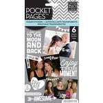 Me and My Big Ideas - Pocket Pages - Clear Stickers - 6 Sheets - Friends - White Lettering