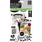 Me and My Big Ideas - Pocket Pages - Clear Stickers - 6 Sheets - Love