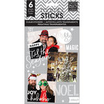 Me and My Big Ideas - Pocket Pages - Christmas - Clear Stickers - 6 Sheets - Joy to the World