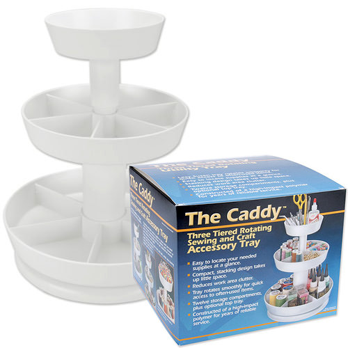 Pedal Sta - The Caddy - Three Tiered Rotating Sewing and Craft Accessory Tray