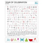 Craftwell - eCraft - 12 Inch Electronic Cutting System - Image Card - Year of Celebration