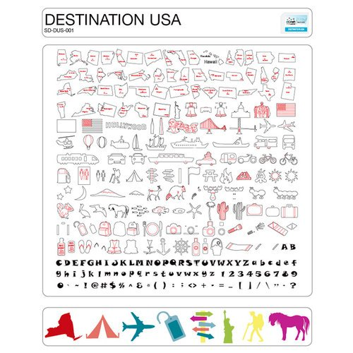 Craftwell - eCraft - 12 Inch Electronic Cutting System - Image Card - Destination USA