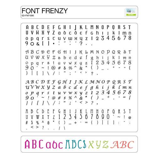 Craftwell - eCraft - 12 Inch Electronic Cutting System - Image Card - Font Frenzy