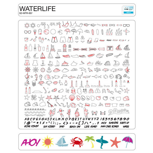 Craftwell - eCraft - 12 Inch Electronic Cutting System - Image Card - Waterlife