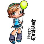 Some Odd Girl - Clear Acrylic Stamps - Balloon Kaylee