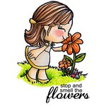 Some Odd Girl - Clear Acrylic Stamps - Smell The Flowers Tia