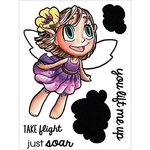 Some Odd Girl - Clear Acrylic Stamps - Fairy In Flight
