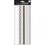 Me and My Big Ideas - MAMBI Sticks - Clear Stickers - Lace Borders