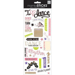 Me and My Big Ideas - MAMBI Sticks - Clear Stickers with Glitter Accents - I Heart Dance