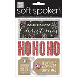 Me and My Big Ideas - Christmas - Soft Spoken - 3 Dimensional Stickers with Glitter and Jewel Accents - Don't Open - Ho Ho Ho