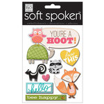 Me and My Big Ideas - Soft Spoken - 3 Dimensional Stickers with Glitter and Jewel Accents - You're A Hoot
