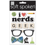Me and My Big Ideas - Soft Spoken - 3 Dimensional Stickers with Glitter and Epoxy Accents - I Heart Nerds