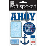 Me and My Big Ideas - Soft Spoken - 3 Dimensional Stickers with Glitter and Jewel Accents - Ahoy