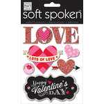 Me and My Big Ideas - Soft Spoken - 3 Dimensional Stickers with Glitter and Jewel Accents - Love Lots of Love