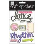 Me and My Big Ideas - Soft Spoken - 3 Dimensional Stickers with Glitter and Jewel Accents - Love Dance