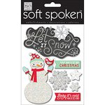 Me and My Big Ideas - Soft Spoken - Ellen Krans - 3 Dimensional Stickers with Glitter and Jewel Accents - White Christmas
