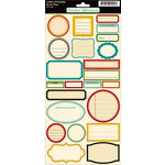 October Afternoon - Road Map Collection - Cardstock Stickers - Labels, BRAND NEW