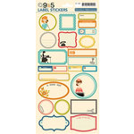 October Afternoon - 9 to 5 Collection - Cardstock Stickers - Labels