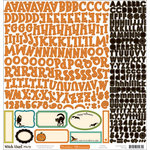 October Afternoon - Witch Hazel Collection - Halloween - 12 x 12 Cardstock Stickers - Alphabet