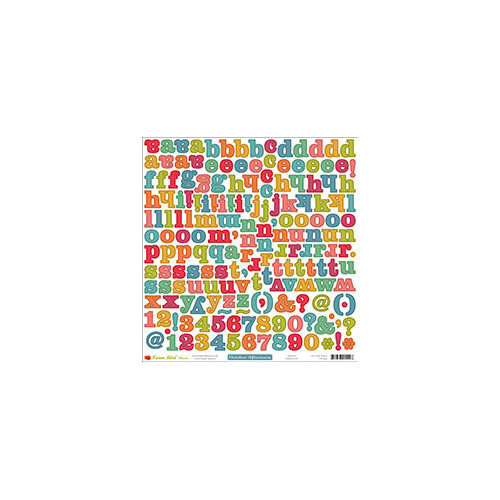 October Afternoon - Farm Girl Collection - 12 x 12 Cardstock Stickers - Alphabet