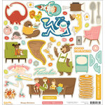 October Afternoon - Saturday Mornings Collection - 12 x 12 Cardstock Stickers - Shapes