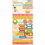 October Afternoon - Saturday Mornings Collection - Cardstock Stickers - Words
