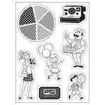 October Afternoon - Midway Collection - Cling Mounted Rubber Stamps - Carnival