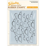 October Afternoon - Saturday Mornings Collection - Repositionable Rubber Stamps - Cloud Background