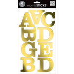 Me and My Big Ideas - MAMBI Sticks - Large Alphabet Stickers - Century - Caps - Gold Foil