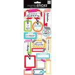 Me and My Big Ideas - MAMBI Sticks - Cardstock Stickers - Washi Birthday Sayings