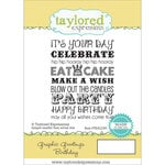 Taylored Expressions - Cling Stamp - Graphic Greetings - Birthday