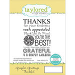 Taylored Expressions - Cling Stamp - Graphic Greetings - Thankful