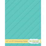 Taylored Expressions - Embossing Folder - Diagonal Stripe