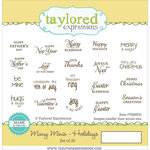 Taylored Expressions - Cling Stamp - Many Minis - Holidays