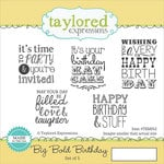 Taylored Expressions - Cling Stamp - Big Bold - Birthday
