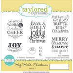 Taylored Expressions - Cling Stamp - Big Bold - Christmas