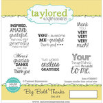 Taylored Expressions - Cling Stamp - Big Bold - Thanks