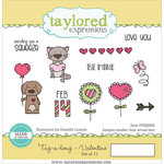 Taylored Expressions - Cling Stamp - Tag-A-Long Valentine